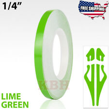"1/4"" Roll Vinyl Pinstriping Pin Stripe Soild Line Tape Sticker 6mm LIME GREEN"