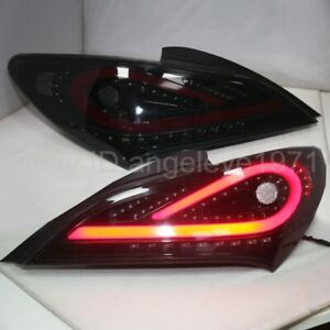 2009-11 year For Hyundai Genesis Coupe LED strip Taillights lamps Smoke black WH