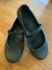 Women's Black Crocs Mary Janes Alex Work Flat Style, Size 5