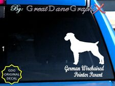 German Wirehaired Pointer -Mom-Dad-Parent(s) Vinyl Decal Sticker-Color-High Qlty