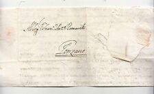 1769 STATO CHIESA lettera ROMA-PONZANO-t.SECCO STEMMA ARALDICO-f411