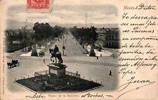 MEXICO PASEO DE LA REFORMA POSTAL ANTIGUA AÑO 1902