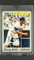 2012 Topps Fan Favorites #FFA-MW Maury Wills Los Angeles Dodgers Autograph Auto