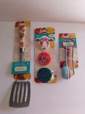 New listing Pioneer Woman Bundle Vintage Floral Slotted Turner 3 piece Bag clip 8 piece meas