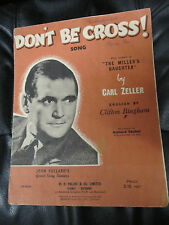 Vintage Piano and Voice Music Sheet - Don't be Cross by Richard Tauber