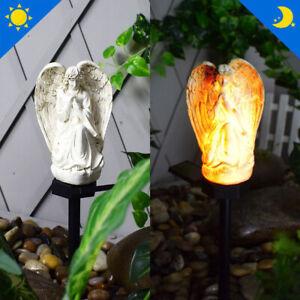 Solar Stake Lights Outdoor Angel Pattern Solar Light LED Lawn Lamp Waterproof TA