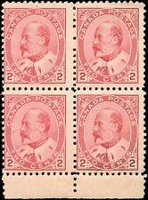 1903 Mint NH Canada F Scott #90 2c Block of 4 King Edward VII Stamps