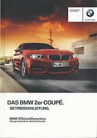 BMW 2er COUPE F22 Betriebsanleitung 2015 Bedienungsanleitung Handbuch BA