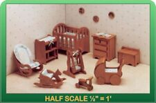 Nursery Dollhouse Furniture Kit - 1/24 Scale by Greenleaf Dollhouses