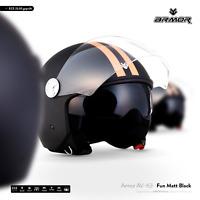 ARMOR AV-63 Fun m.B Jet-Helm Motorrad-Helm Roller-Helm Scooter - XS S M L XL XXL