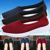 Women's Casual Sport Shoes Running Trainers Mesh Slip Sneakers Breathable Tennis