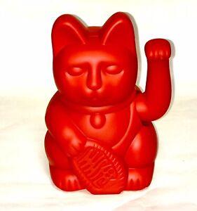 Donkey Winkekatze Red/Rot verkörpert Mut & Kraft, Glücksbringer