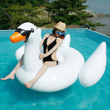Giant Inflatable Unicorn Swan Pool Float Raft Swimming Lounge Toy Bed AU