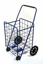 Folding Shopping Cart For Grocery  39.7 x 24.4 x 20 Inches, Black/Gray/Blue