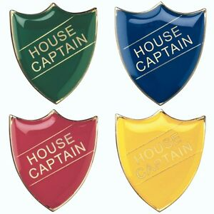 House Captain Shield Enamel Badges - Free Delivery