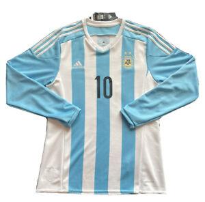 2015 Argentina Home Jersey #10 Messi Medium Adidas Long Sleeve Copa America NEW