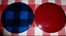"""Hot Tub Light Covers Cal Spa 6 1/2"""" diameter: Red and Blue Plastic"""