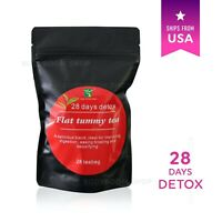 28 Day - FLAT TUMMY TEA Herbal Slim Detox Weight Loss Slimming Lose Fat Fast