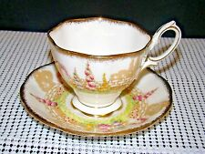 Vintage Royal Albert Crown China GREENWAYS Pattern Tea Cup and Saucer