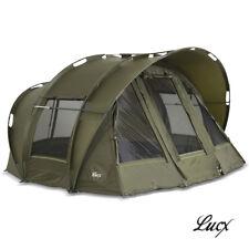 LUCX Bivvy 2 & 3 MANN Tenda Pesca Carpa Tenda LEOPARDO CARP Dome Tent NUOVO