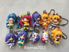 """Bandai Happiness Charge Precure 10pcs 2"""" Figures Keychains Pendant New Loose"""