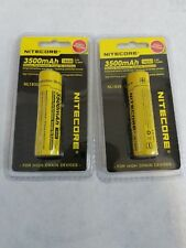Nitecore NL1835 18650 3500mAh 3.6V Protected  Rechargeable Battery x2