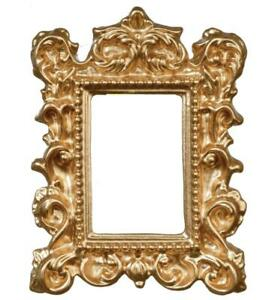 Dolls House Empty Ornate Gold Picture Frame Medium 1:12 Miniature Accessory
