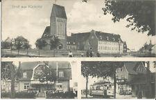 Kücknitz bei Lübeck, Gasthaus, Kirche, Straßenbahn, alte Ak von 1915