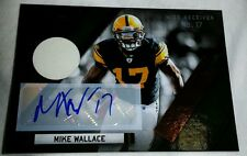 2011 11 MIKE WALLACE RAVENS ABSOLUTE JERSEY PATCH AUTOGRAPH AUTO # / 10 1/1