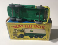 Matchbox Lesney Phantom #25 BP Petrol Tanker With Grey Wheels Original Box.