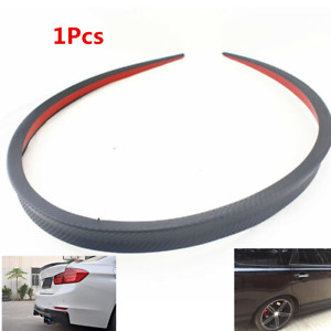"1X 46"" Soft PU Car Rear Wing Lip Spoiler Tail Trunk Roof Trim Sticker Protector"