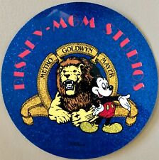 Mgm Studios Leo Lion / Mickey Mouse Decal - 1989 Disney Park Inaugural Opening