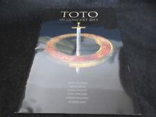 TOTO in Concert 2011 Japan Tour Book Program Steve Lukather David Paich Porcaro