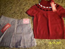 NWT Girls Size 3 Gymboree Skort And Sweater Set
