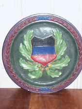 Kanton Zug Schweizer Wappenteller Keramik Schweiz Antik Kanton Wappen D=33cm,