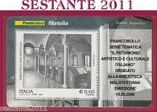 TESSERA FILATELICA FRANCOBOLLO BIBLIOTECA MALATESTIANA CESENA 2008 M52