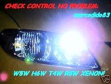 2 LAMPADE LED MTEC 5000K W5W H6W T10 BAU9S T5 T4W SIDE LIGHTS INTERIOR NO CHECK