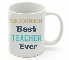Personalised School Teacher Name Coffee Cup Mug Christmas Gift Thank You Present