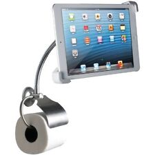 CTA Digital Wall Mount Bathroom Stand for iPad and Tablets with Paper Holder