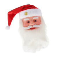 Santa Claus Electric Musical Santa Claus Head Swing Hat Christmas for Party