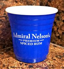 New admiral nelson's premium spiced rum shot glass blue mini plastic solo cup