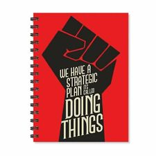 A5 Notebook Motivational Quote Wirebound Spiral Ruled Red Paper Diary for School