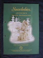 Snowbabies nouveautés 2000-de Goebel