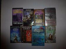 Lot of 8 Fantasy Books, Terry Brooks,Diana Gabaldon,Kristen Britain,R.A.Salvator