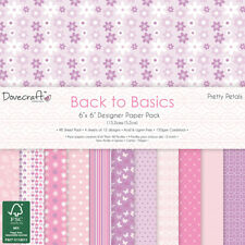 Dovecraft 6x6 - Back to Basics - Pretty Petals - 48 sheets Scrapbooking Cards