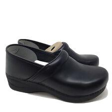 B1571 Dansko Womens XP 2.0 Pull Up Clogs Black Leather US 9.5-10 Wide (40 W)