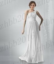 Long One Shoulder Chiffon Wedding Formal Evening Party Prom Bridesmaid Dress6-26