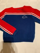 Boys Roots Canada Kids Blue Red Knit Sweater 2T EUC Stripe
