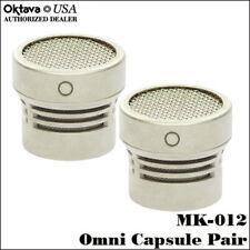 Oktava MK-012 - Omni Capsule Stereo Pair - Silver - Brand New - Free Shipping