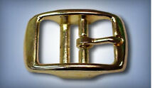 """5ea 3/4"""" Rounded Double Bar Buckles Solid Brass R147B"""